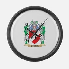 Cortes Coat of Arms - Family Cres Large Wall Clock