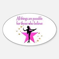 Cute Skating inspirational Sticker (Oval)