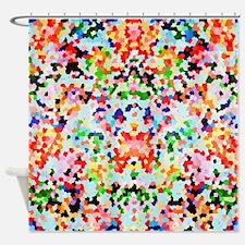 Unique Confetti Shower Curtain