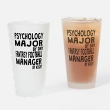 Psychology Major Fantasy Football Drinking Glass