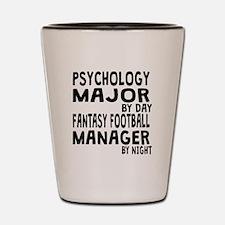 Psychology Major Fantasy Football Shot Glass