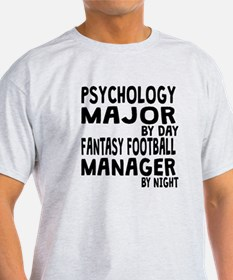 Psychology Major Fantasy Football T-Shirt