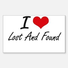 I Love Lost And Found Decal
