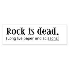 Rock is dead. Long live paper Bumper Car Sticker