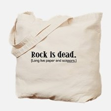 Rock is dead. Long live paper Tote Bag