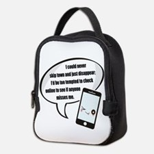 Disappear Quote Neoprene Lunch Bag