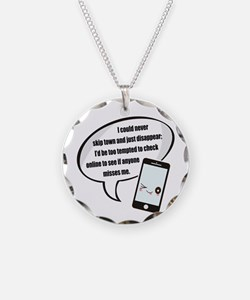 Disappear Quote Necklace