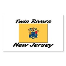 Twin Rivers New Jersey Rectangle Decal