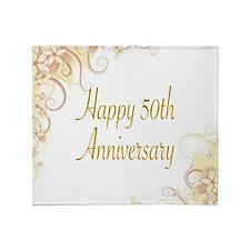 HAPPY 50TH ANNIVERSARY Throw Blanket
