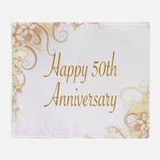 HAPPY 50TH ANNIVERSARY Throw Blanket