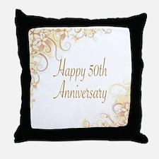 HAPPY 50TH ANNIVERSARY Throw Pillow