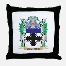 Crabtree Coat of Arms - Family Crest Throw Pillow