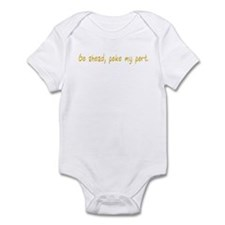Go ahead, poke my port. Infant Bodysuit