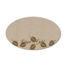 Personalized Golden Leaf Pattern Wall Decal