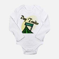 Funny Day trader Long Sleeve Infant Bodysuit
