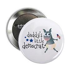 """Daddy's Little Democrat 2.25"""" Button"""