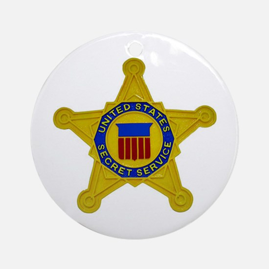 US FEDERAL AGENCY - SECRET SERVICE Round Ornament