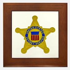 US FEDERAL AGENCY - SECRET SERVICE Framed Tile