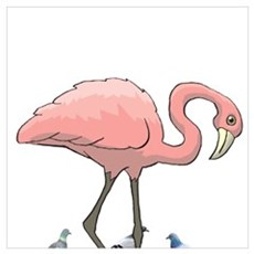 I'M A FLAMINGO IN A FLOCK OF PIGEONS  Canvas Art