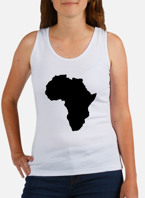 Shape map of AFRICA Tank Top