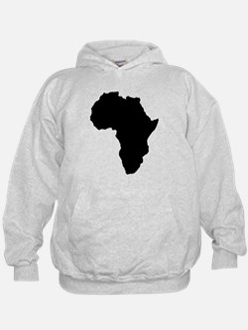 Shape map of AFRICA Hoodie