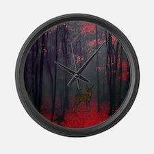 Cute Camouflage deer hunting Large Wall Clock