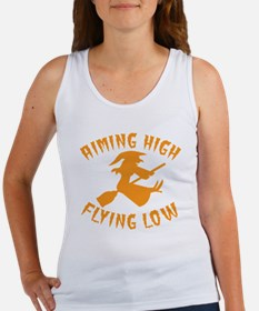 AIMING HIGH - flying low witch on a broom Tank Top