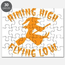 AIMING HIGH - flying low witch on a broomst Puzzle
