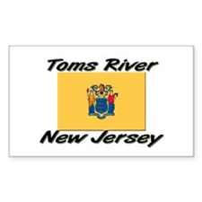 Toms River New Jersey Rectangle Decal