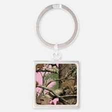 Cute Camouflage Square Keychain
