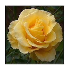 Yellow Roses Porcelain Tile Coaster