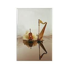 Cello & Harp Rectangle Magnet