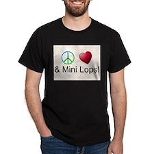 Peace Love Mini Lops T-Shirt