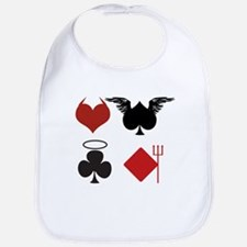 Card Suits Angelic or Devilish Bib