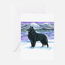 Cute Belgian sheepdog Greeting Cards (Pk of 10)
