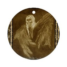 Glowing Angel Round Ornament
