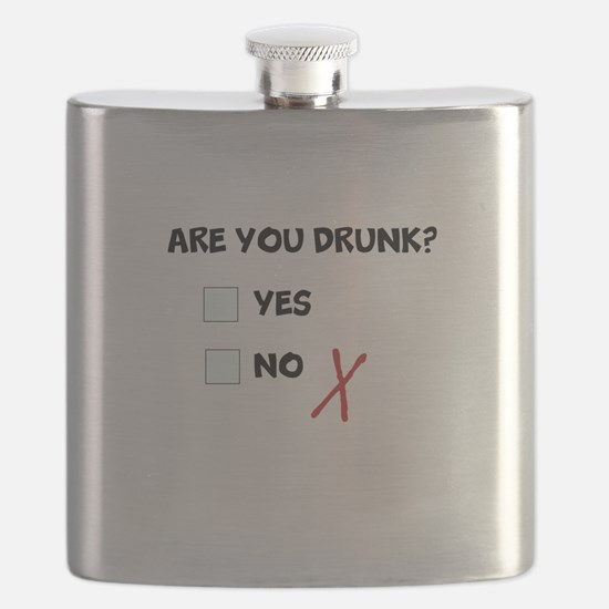Are you drunk? Yes No Check Box Flask