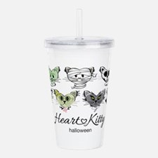 HeartKitty Halloween Acrylic Double-wall Tumbler