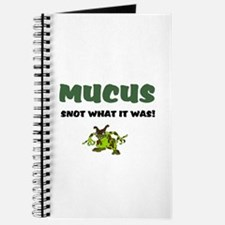 MUCUS - SNOT WHAT IT WAS! Journal