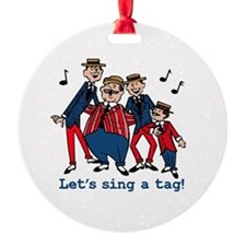 Sing a Tag Ornament