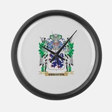 Crichton Coat of Arms - Family Cr Large Wall Clock