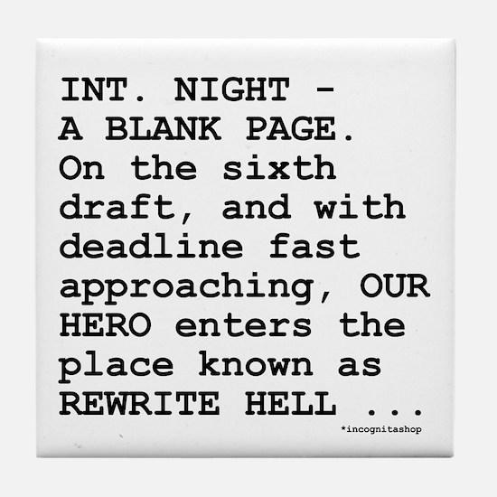 Rewrite Hell Tile Coaster