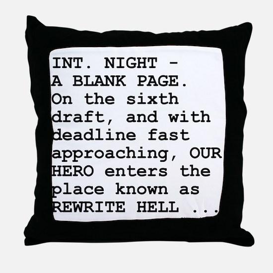 Rewrite Hell Throw Pillow