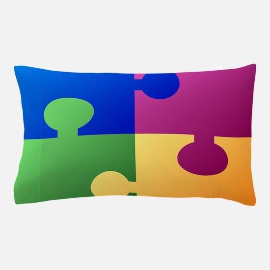 Colorful Puzzle Pillow Case