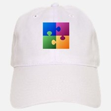 Colorful Puzzle Baseball Baseball Cap