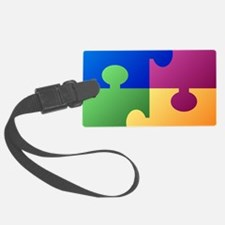 Colorful Puzzle Luggage Tag