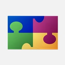 Colorful Puzzle Magnets