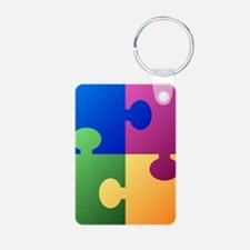 Colorful Puzzle Keychains