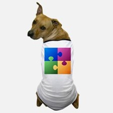 Colorful Puzzle Dog T-Shirt
