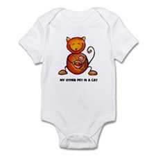 my other pet is a cat Infant Bodysuit